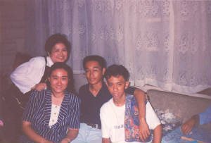 Mae and Armand with Roann and Romario